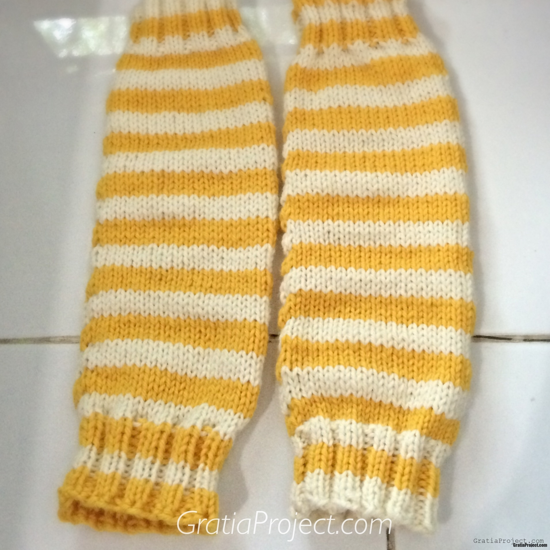 Striped Leg Warmers Knitting Pattern   Gratia Project