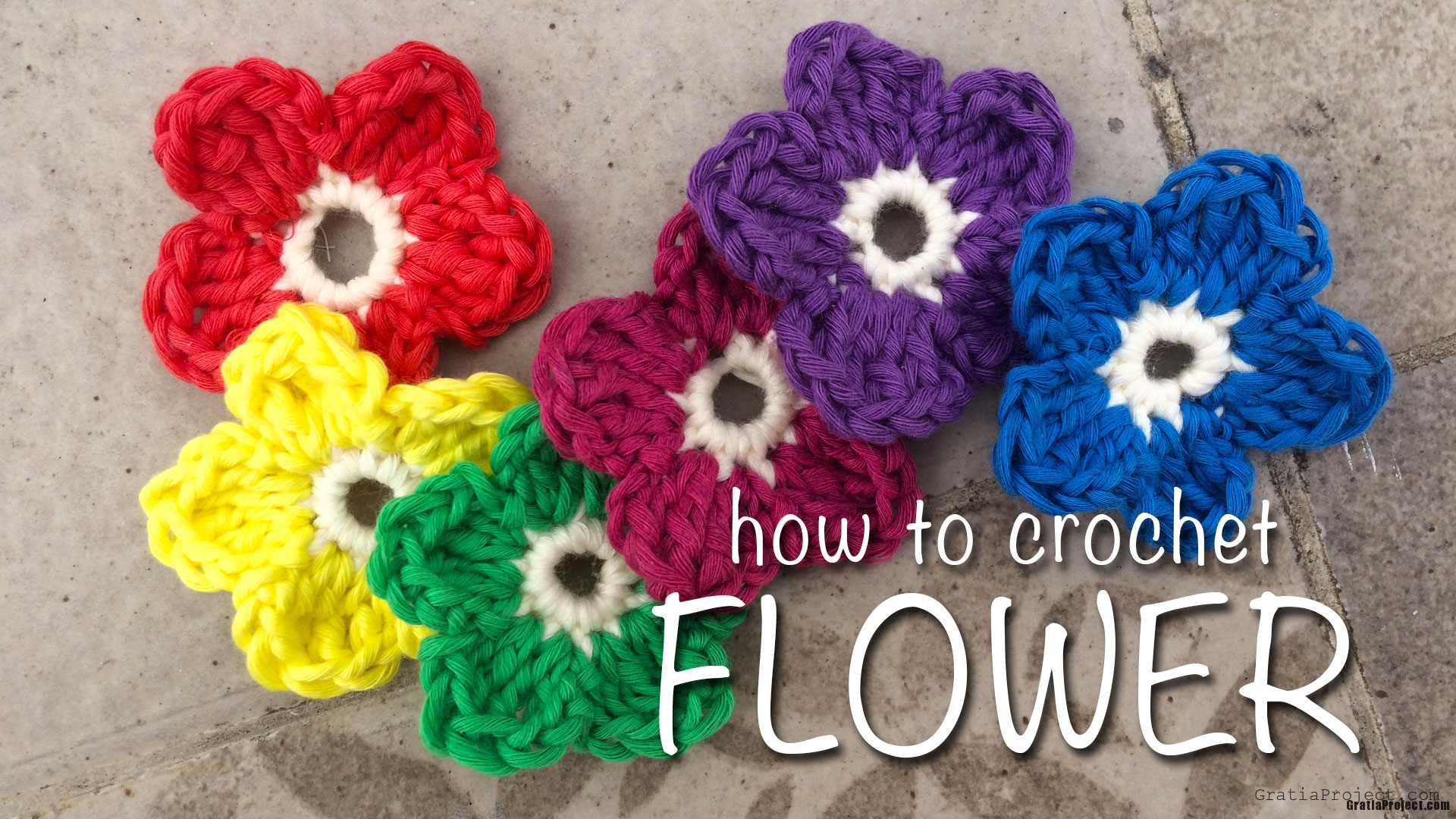 How To Crochet Flower (for Beginner) Stepbystep Video Tutorial