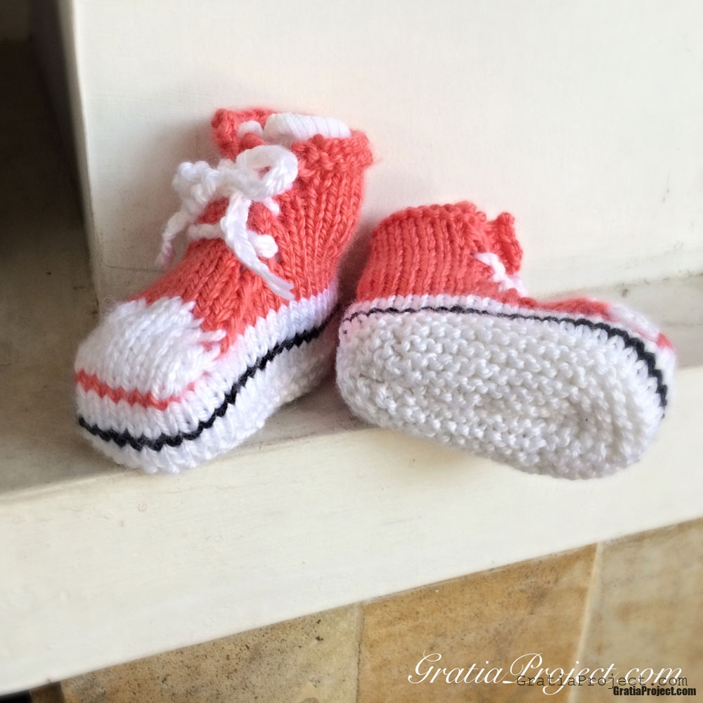 baby shoes converse knitting pattern