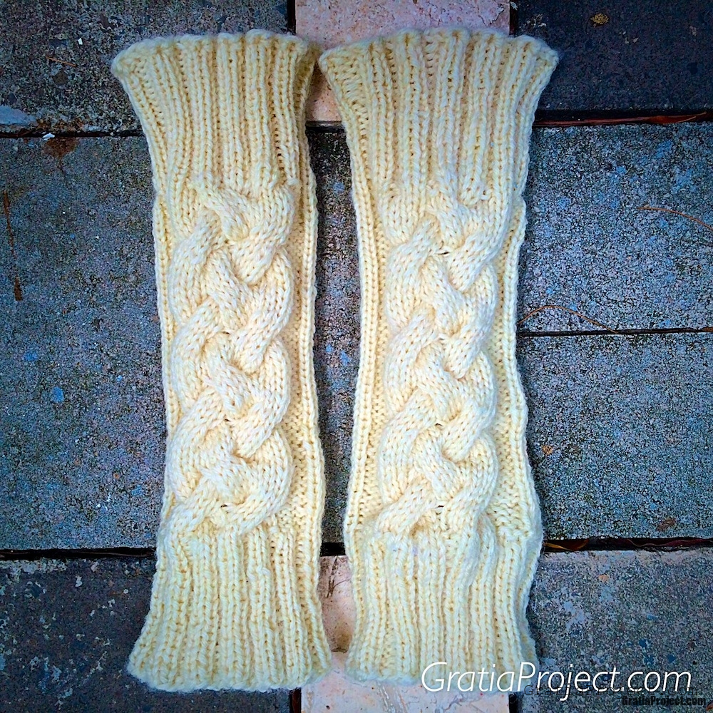 cable legwarmer knitting pattern