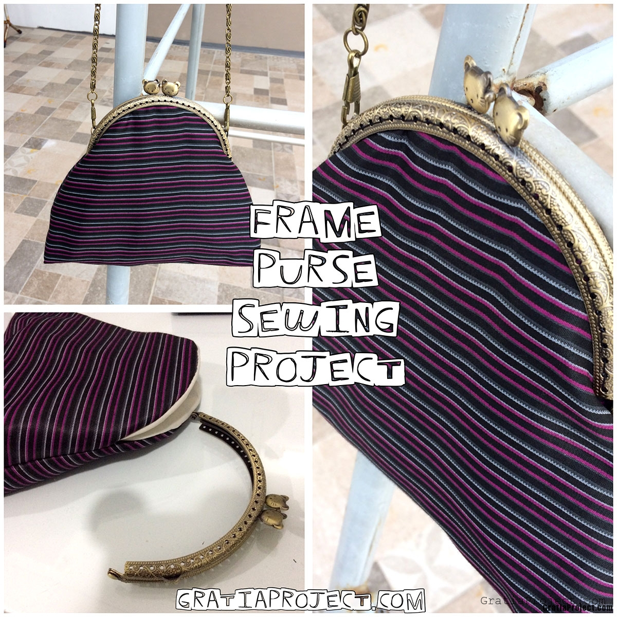 Frame Purse Crossbody Bag Sewing Project