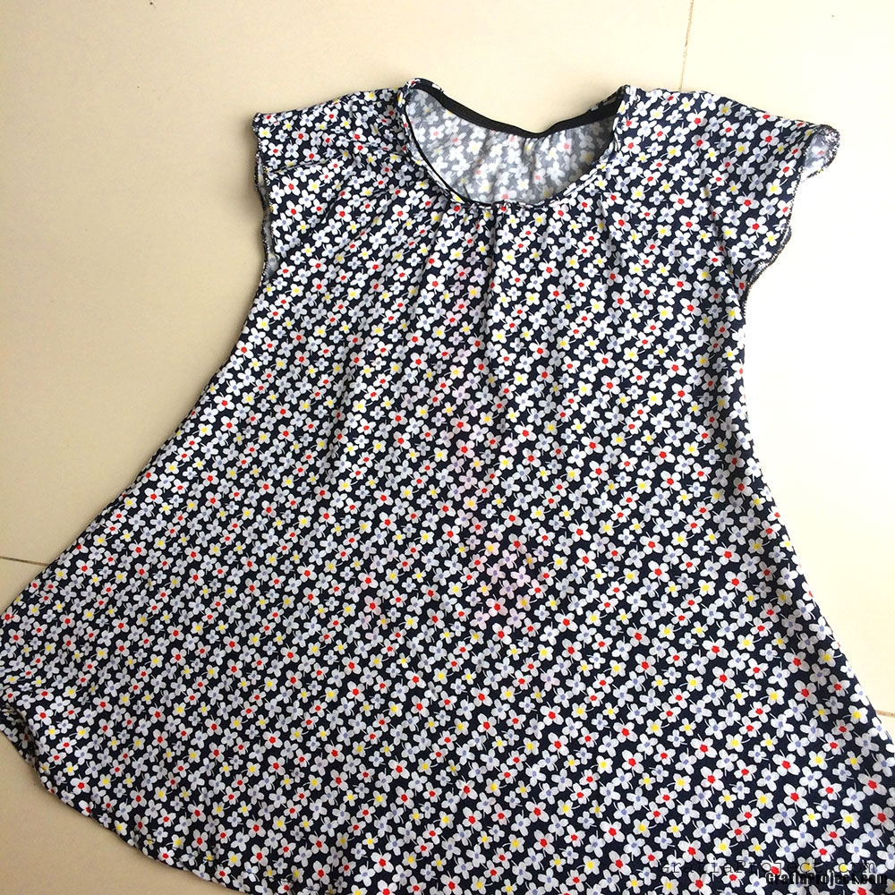 children rayon dress sewing project