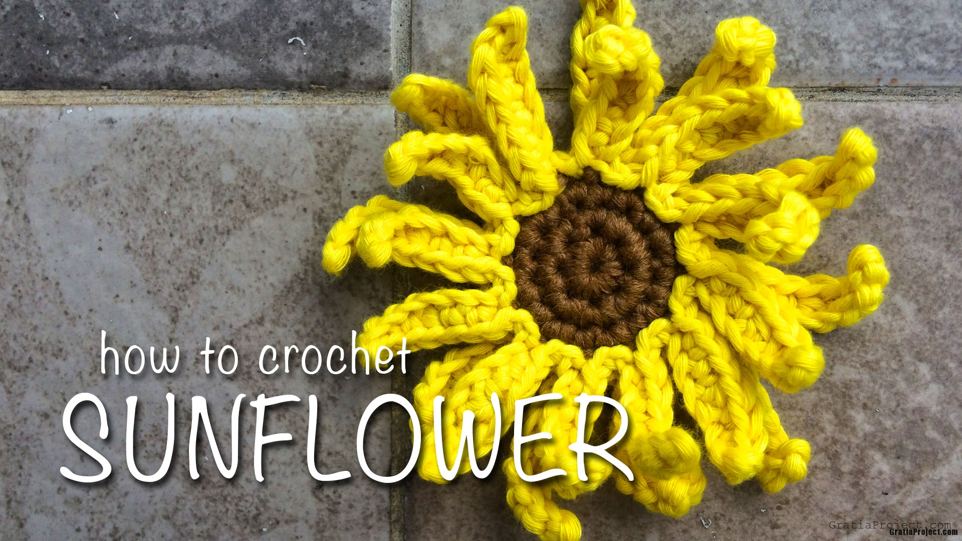Sunflower Crochet Pattern And Step-by-step Tutorial