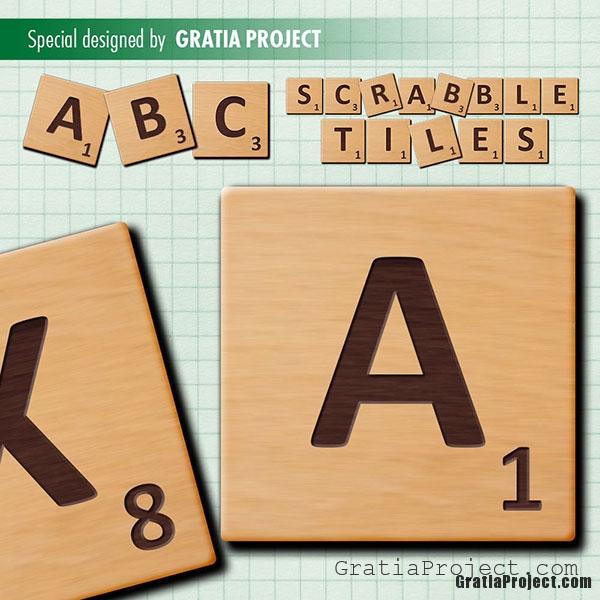 scrabble tiles wooden letters clip art