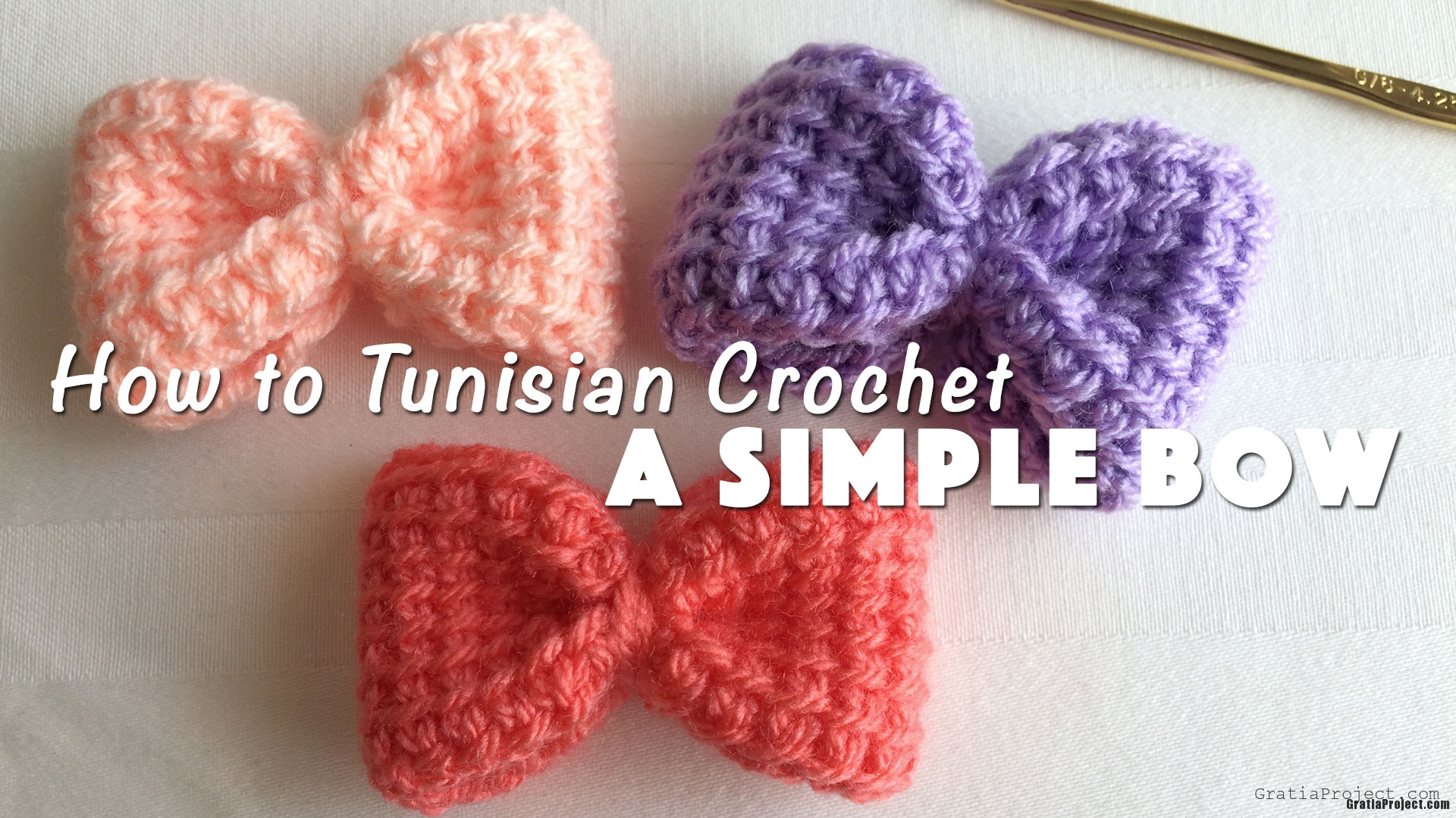 how-to-tunisian-crochet-a-simple-bow