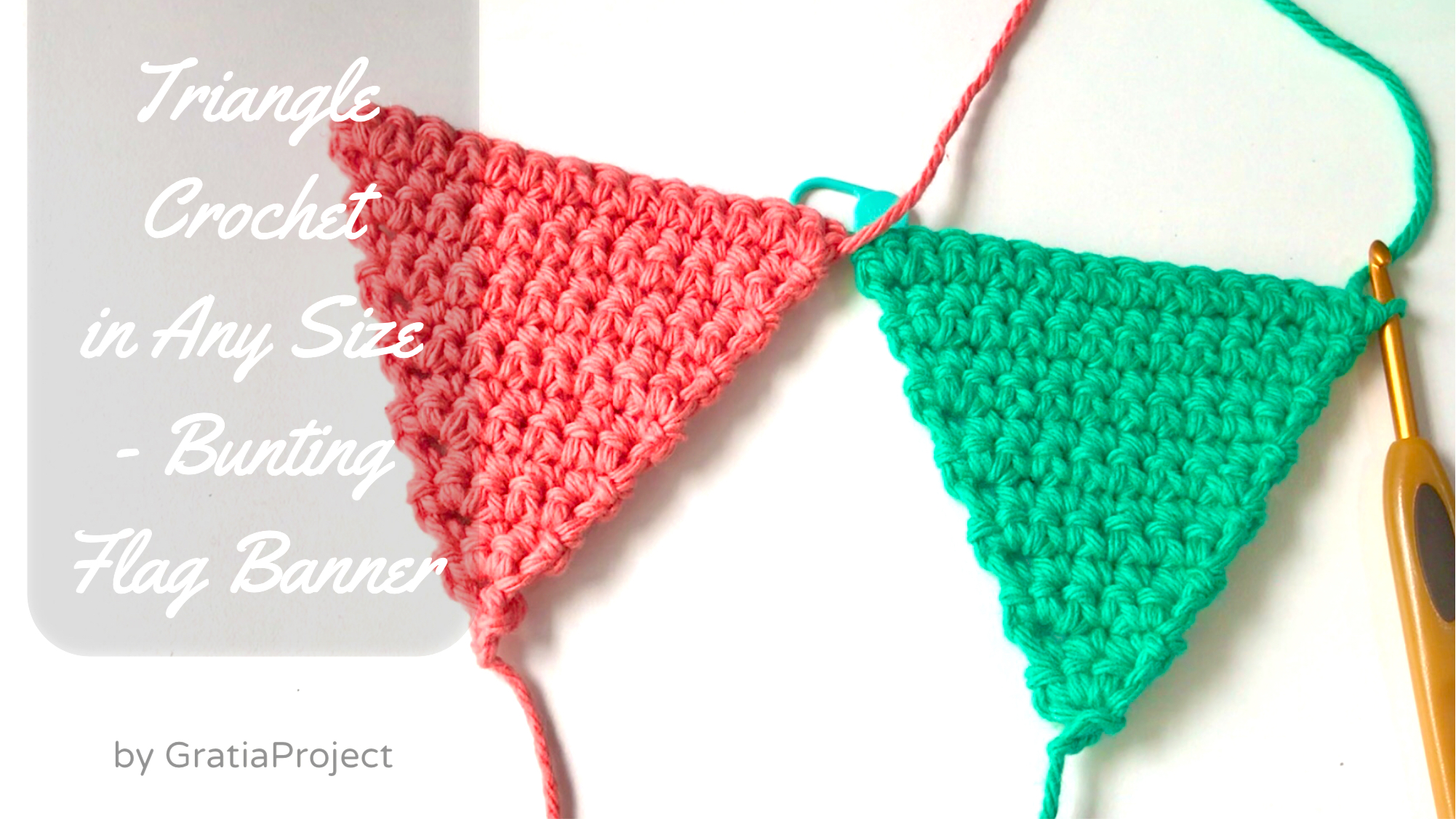 Triangle Crochet in Any Size   Bunting Flag Banners